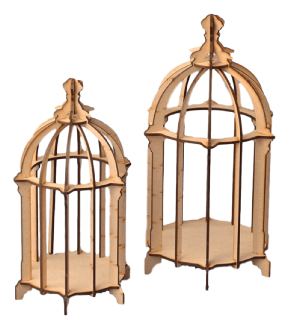 3 Dimensional Birdcage with Standard Top